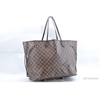 Tagre™ Authentic Louis Vuitton Damier Neverfull GM Tote Bag N51106 LV 36746