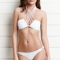 O'Neill Hi-Neck Halter Bikini Top - Womens Swimwear - White