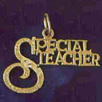 14K GOLD SAYING CHARM - SPECIAL TEACHER #10711