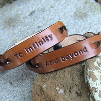 His n Hers - To Infinity and Beyond - Leather Signet Braided wristbands FOLLOW ME AND ENJOY!