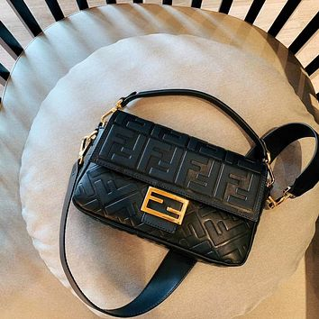 FENDI Women Leather Shoulder Bag Crossbody Satch