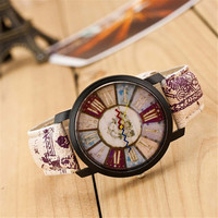 Womens Retro Nostalgia Leather Strap Watch Best Christmas Gift 418