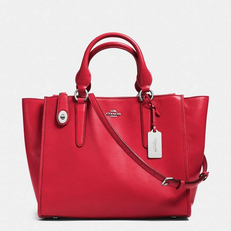 Image of COACH Women Shopping Leather Tote Crossbody Satchel Shoulder Bag