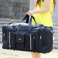 65L Women Travel Bags Large Capacity Girl Luggage Travel Duffle Shoulder Bags Canvas Travel Folding Bag For Trip