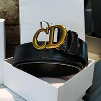 Dior new letter CD gold buckle all-match fashion belt
