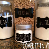 Canister Labels - Customizable (set of 8)