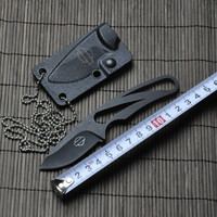 hunting knife 5Cr15 56HRC titanium + ABS case fixed blade tactical knives outdoor survival knife camping knife