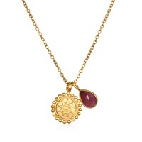 Mandala Birthstone Necklace - July