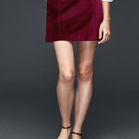 Gap Women Velvet Mini Skirt