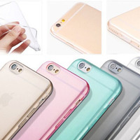 Crystal Clear Transparent Soft Silicon 0.3mm TPU Case for iPhone 4 4S 5 5S 6 / 6 Plus