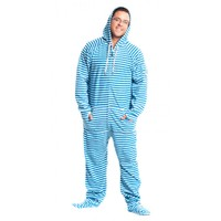 Blue Stripped Adult Onesuits