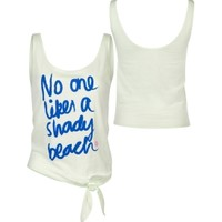 Roxy Women's Shady Beach Slub Tank Top