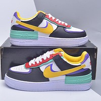 Nike WMNS Air Force 1 Shadow men's and women's color matching low-top all-match sneakers