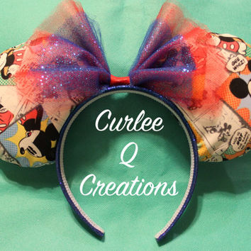 Comic Strip Mickey Mouse Ears