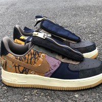 Travis Scott x Nike Air Force 1 Low 'Cactus Jack' Sneakers - Best Online Sale