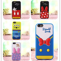 Cartoon 3D Mickey Minnie Silicone Phone case cover for iPhone Samsung OPPO 7 ect