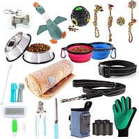 AONESY 24pcs Puppy Starter Kit,Dog Supplies Assortments Gift Set for Dog,Include