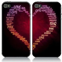 Fluore Scent Love Couple Hard Cover Case For Iphone 4/4s/5