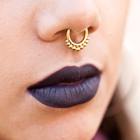 Antique Tribal Faux Septum Ring