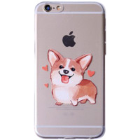 Corgi Iphone 7 Rubber Phone Case CLEAR