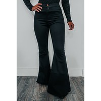 Get Caught Up Bell Bottoms: Black