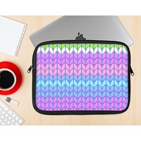 The Bright-Colored Knit Pattern Ink-Fuzed NeoPrene MacBook Laptop Sleeve