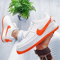 Nike Air Force 1 AF1 JESTER Transformed Crooked Sneakers Flat Shoes Orange hook