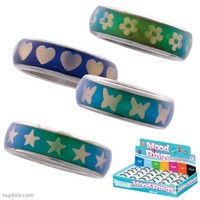 Patterned Mood Ring Band - Toysmith - Pack of 30 ea