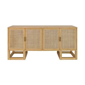Patrick Pine Cabinet by Worlds Away