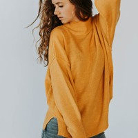 Amber Turtleneck Sweater (Warm Sun)