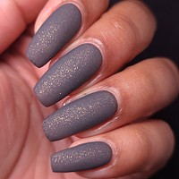 LAST BATCH - If You're Not Man Enough to Put an End to This Sh*t, Than I Am! - Medium Grey w/ Bronze Microflakies