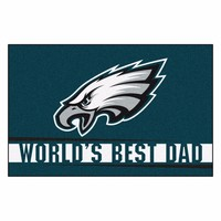 FANMATS Philadelphia Eagles World's Best Dad Starter Mat Rug