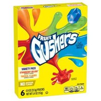 Betty Crocker Fruit Gushers Variety Pack Fruit Flavored Snacks - 6ct
