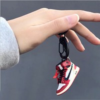Mini aj key chain three-dimensional basketball shoe model car schoolbag backpack pendant ornament key chain