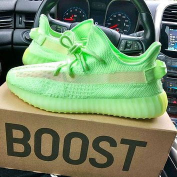 Adidas yeezy 350 v2 boots breathable coconut shoes men's and women's casual sports shoes running shoes