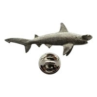 Hammerhead Shark Pin ~ Antiqued Pewter ~ Lapel Pin