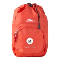 Unique Initial Monogram Text. Beautiful Bright Red Backpack