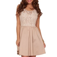 Sexy Mini Fit Flare A-Line Lace Mesh Embroidered Cocktail Homecoming Party Dress