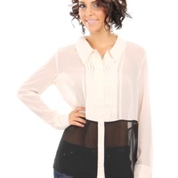 Double Toned Button Down Top