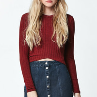 LA Hearts High Neck Cropped Long Sleeve Top at PacSun.com