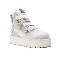 Fenty by Puma Leather Sneaker Boots in White | FWRD