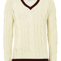 Cream Chunky Cricket Sweater - New Arrivals - New In