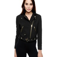 Ottoman Ponte Moto Jacket by Juicy Couture