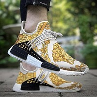 Adidas x Versace PW HU Holi NMD MC Fei Dong human hot selling fashion men and women casual sports shoes