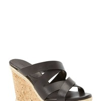 "Women's Jimmy Choo 'Prisma' Leather Wedge Sandal, 4"" heel"