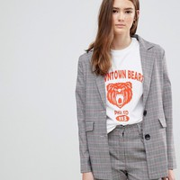 Daisy Street Blazer In Prince Of Wales Check at asos.com