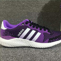 "Women ""Adidas"" Trending Fashion knitting Purple Leisure Running Sports Shoes"
