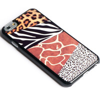 Safari iPhone 6+ Case Animal Skin Pattern Leopard,Zebra,Giraffe,Tiger skin