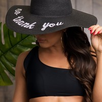 No Thank you Hat - Black