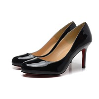 Christian Louboutin Black Patent Leather High Heels 80mm